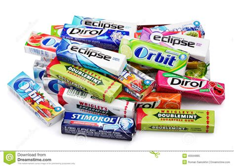 who manufactures heap of various brand chewing or bubble gum editorial