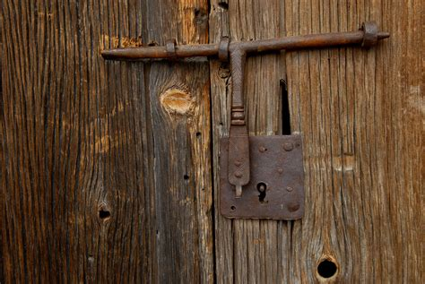Image Detail For Door Lock On An Old Photograph A Rusty Locks For Barn Doors