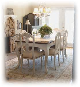 Painted Dining Room Set by Notes From A Cottage Industry A Bit Of Charm In The