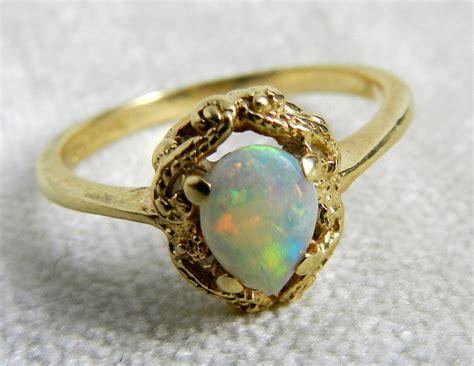 vintage engagement ring opal engagement ring firey opal set in