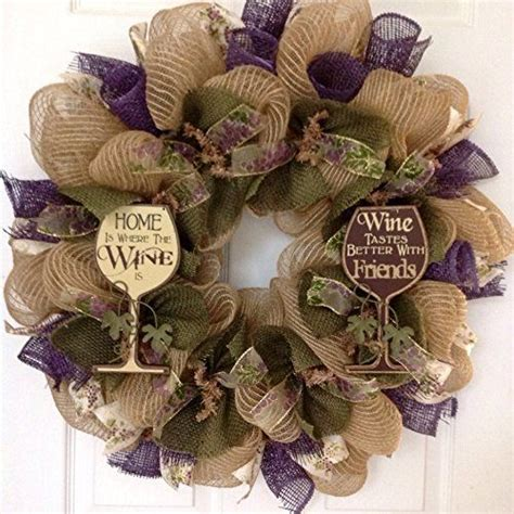 how to make mesh wreaths with two colors wine deco mesh wreath with two inspirational wood glasses