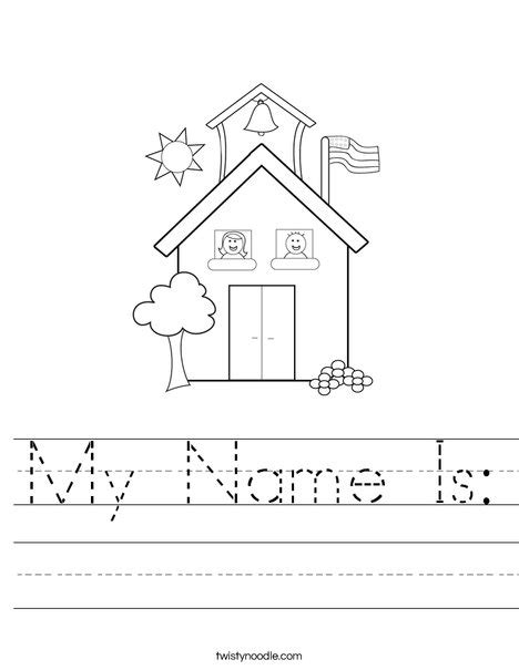 preschool coloring pages first day of school my name is worksheet twisty noodle