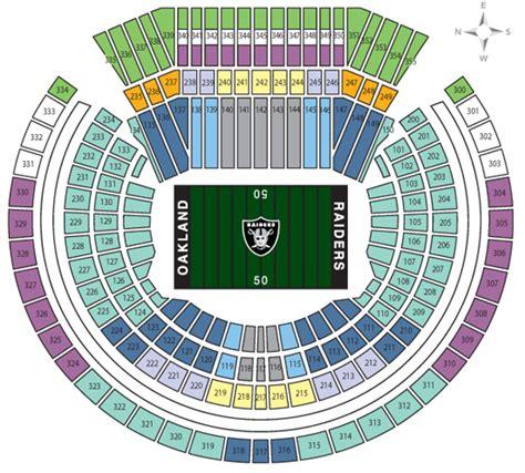 oakland raiders 3d seating nfl stadium seating charts stadiums of pro football