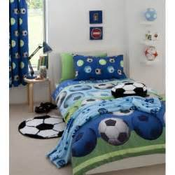 Funky Duvets 66 Quot X 72 Quot Blue Football Bedroom Curtains Fully Lined