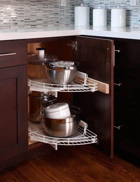ingenious organizing ideas  corner cabinets