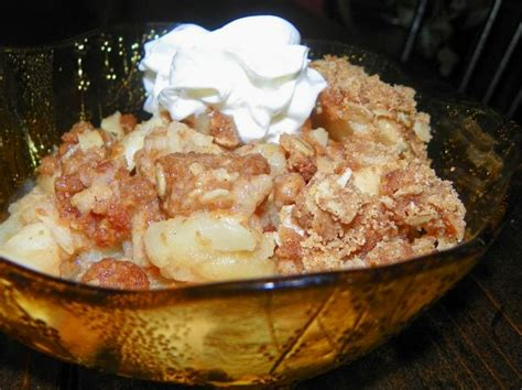 pered chef style apple crisp for microwave or oven