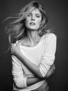 Constance jablonski wears cozy knits for majestic filatures fall 2015