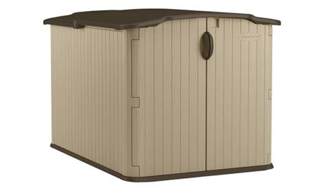 suncast glidetop 6 ft 8 in x 4 ft 10 in resin storage shed