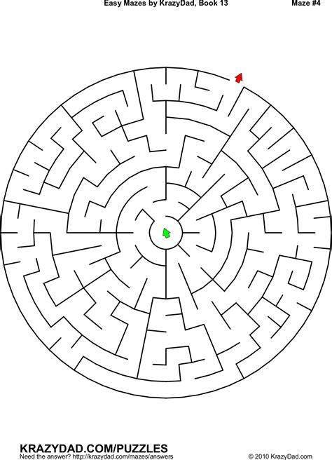 Printable Mazes Krazydad | 迷宮圖形免費下載網站整理 訓練兒童專注力 g t wang