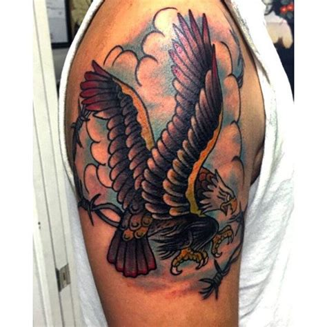 eagle tattoo upper arm sailor jerry eagle tattoo arm