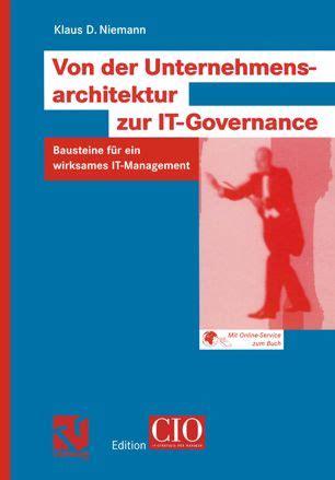 Von Der Unternehmensarchitektur Zur It Governance