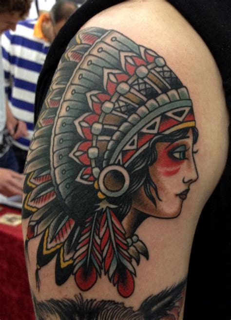 headdress tattoo designs beautiful american headdress