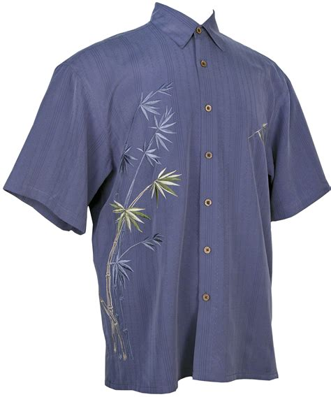 bamboo cay flying bamboo tropical embroidered shirt in