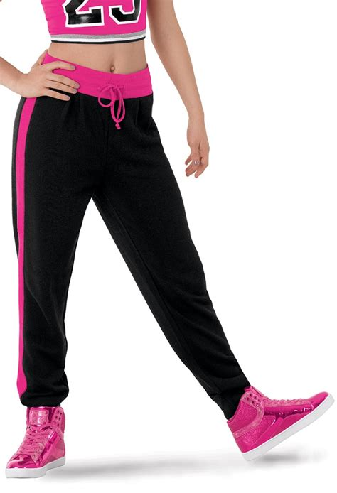 Harem Contrast Trim Sweatpants hip hop apparel danceweardeals
