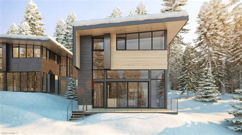 world of architecture contemporary style home by domoney modern ski chalet near slopes bars and restaurants sleeps