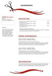 Cosmetology Resume Template by Sle Resumes For Hairstylist Cosmetologist Hairdresser Resume Salon Stylists