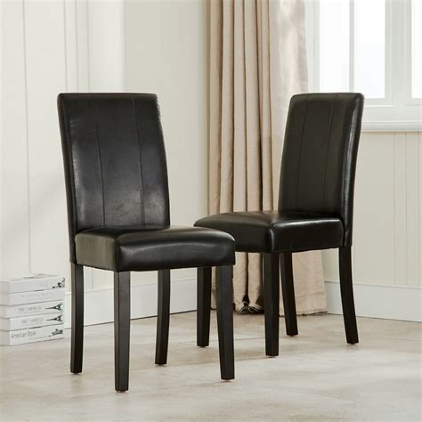 Dining Room Chairs Set Of 2 Modern Parsons Chair Leather Dining Living Room Chairs Seat Set Of 2
