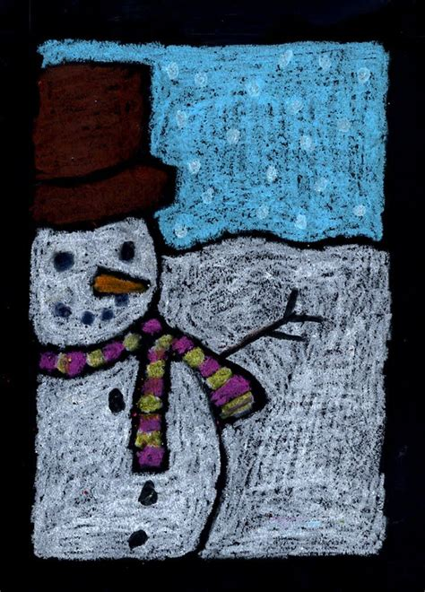 Winter Paper Crafts - projects for cropped snowman pastel