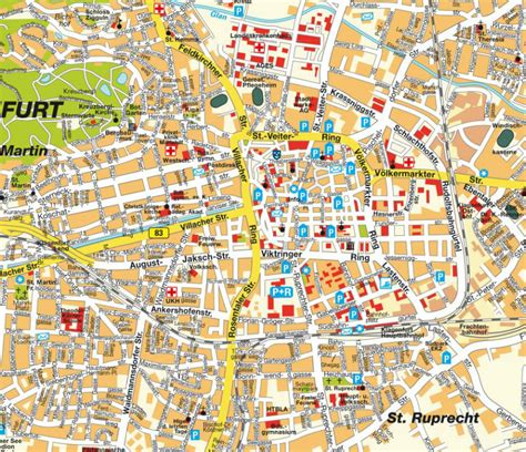 klagenfurt map klagenfurt map and klagenfurt satellite image