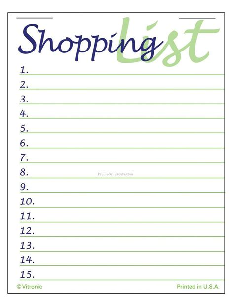 blank shopping list template 7 best images of pretty printable shopping list