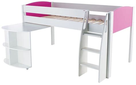 Mid Sleeper With Desk by Buy Stompa Mid Sleeper Pink With Pull Out Desk Cfs Uk