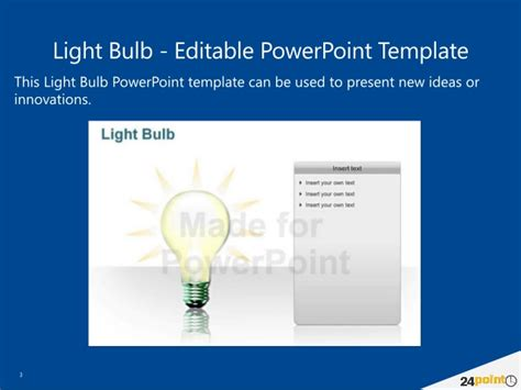 light bulb powerpoint presentation template