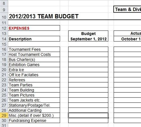 operating budget templates expin franklinfire co