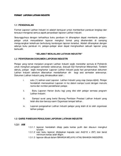 format laporan lifix