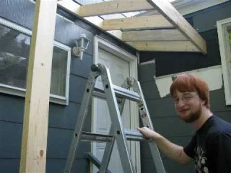 Building An Awning A Door by Building A Roof A Stoop