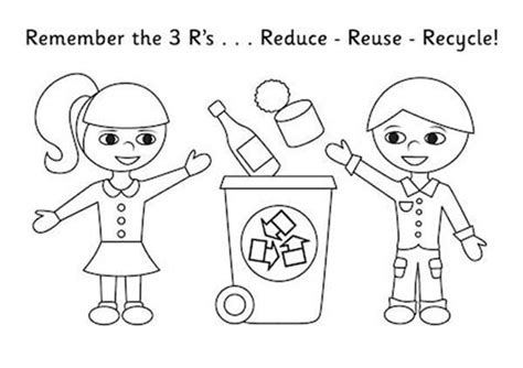 reduce reuse recycle coloring pages coloring pages ideas