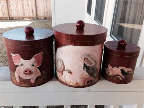 pig kitchen canisters 25 best pig decorations ideas on pinterest pig party