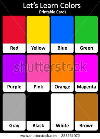 when do children learn colors flash card stock images royalty free images vectors
