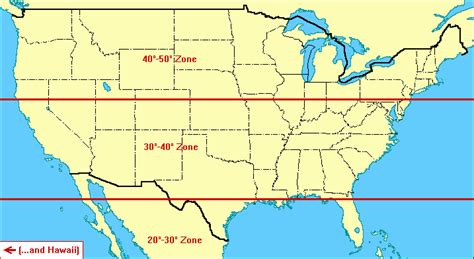 america map with latitude 33rd parallel map united states