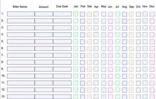 home finance bill organizer template 8 best images of free printable bill payment organizer
