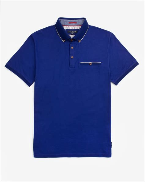 Polo Shirt Cressida 3 ted baker knitted collar polo shirt in blue for lyst