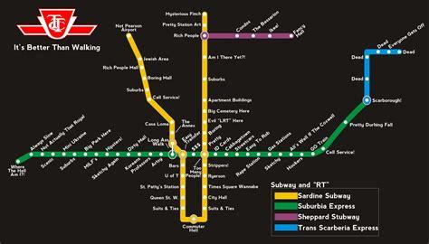 toronto subway map how i see the ttc subway map toronto