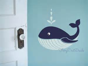 Whale Wall Stickers Whale Wall Decal Ocean Beach Fish Wall Decor Whale Vinyl