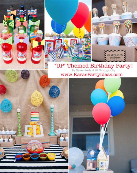 up themed birthday party kara s party ideas disney s quot up quot rainbow balloon boy girl