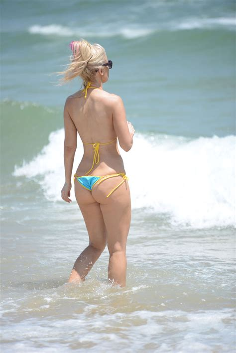 micro beach ana braga wearing bikini at a beach in miami indian