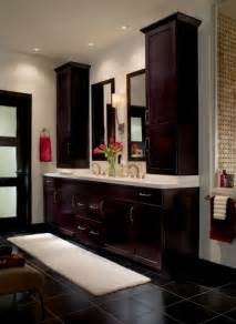 countertop cabinets for the bathroom a vanity with stacked storage on a platform made from the