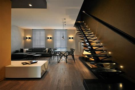 Interior Stairs Design In Duplex Apartments Luxury Interior Design For Duplex Apartment Near Parc