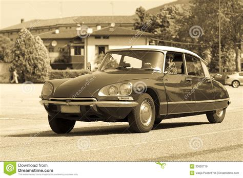 vintage citroen ds vintage citroen ds editorial stock image image of light
