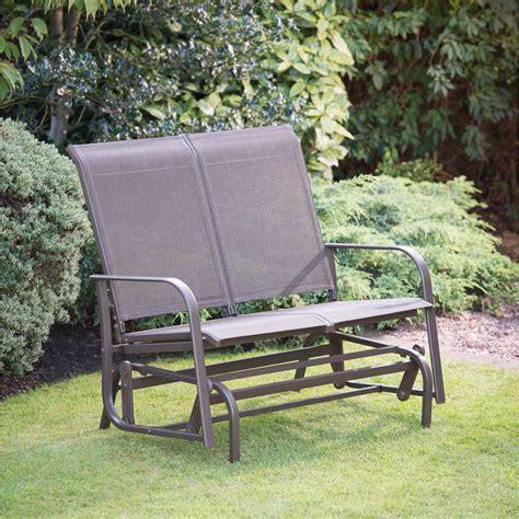 garden glider bench b m gt devon glider garden bench 286916