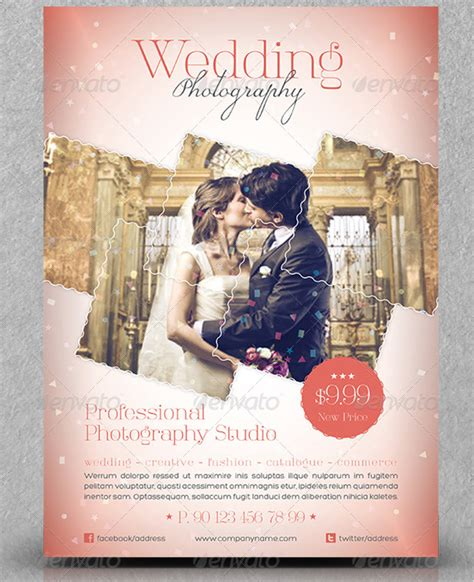 templates for photography flyers 15 great wedding flyer templates design freebies