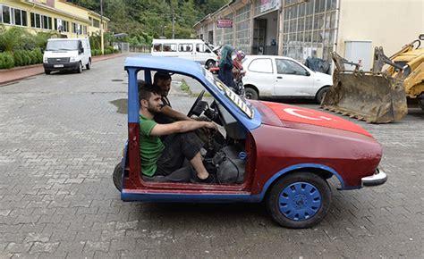 oflu motor ustalari arabayi ikiye boeldue