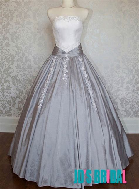 white retro wedding dresses jol225 retro vintage inspired white and gray gown