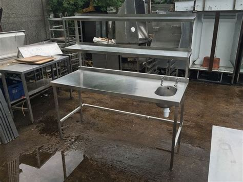 used stainless steel table with sink for sale secondhand catering equipment stainless steel tables