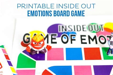 free printable emotions board game free printable printable inside out emotions board game printable crush