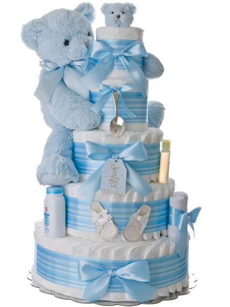 Bear Decorations For Home by Silver Spoon 5 Tier Diaper Cake For Boys