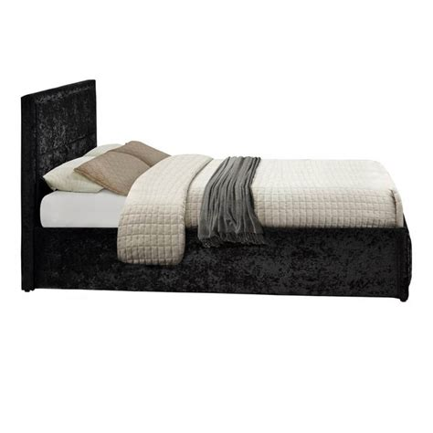 crushed velvet ottoman storage bed hshire crushed velvet ottoman bed frame modern beds